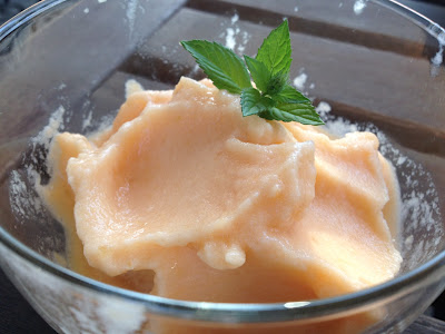 Melon sorbet ice cream